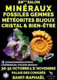 20th Salon MinéralEvent Saint-Raphaël - Minerais, gemas, fósseis e joias