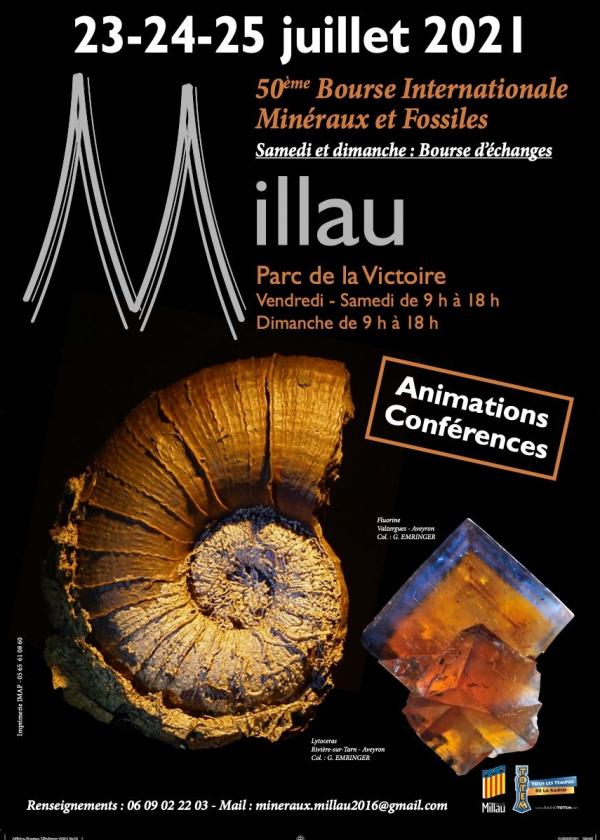 50º Troca Internacional de Gemas de Minerais Fósseis de Millau