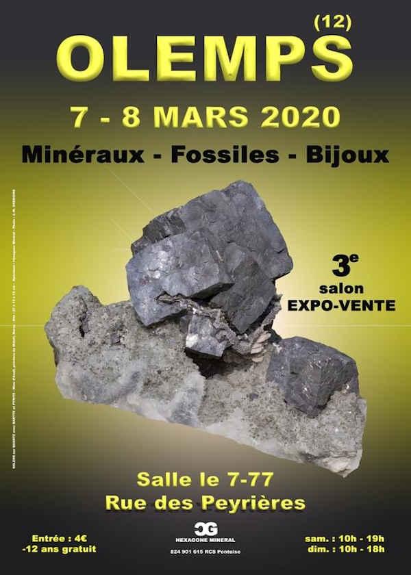 3ª feira de jóias com minerais fósseis