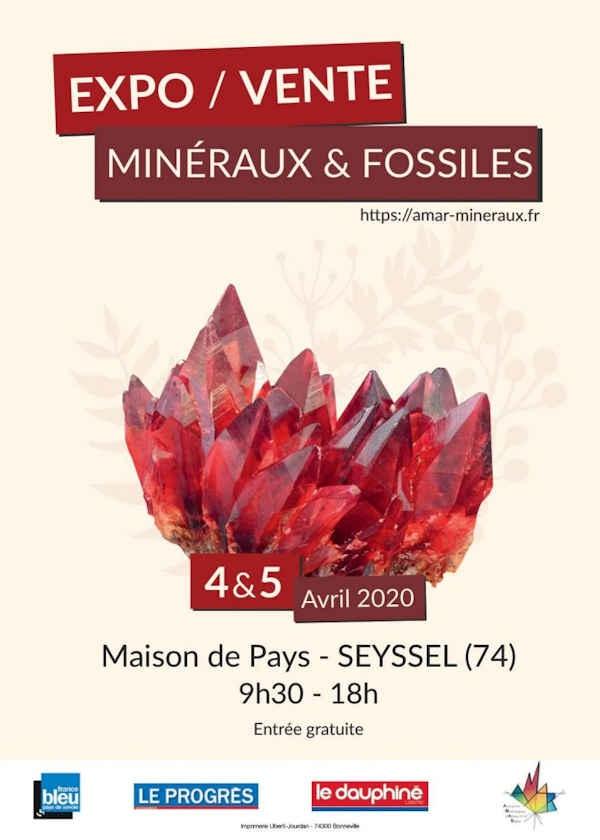 13ª edição venda de minerais e fósseis