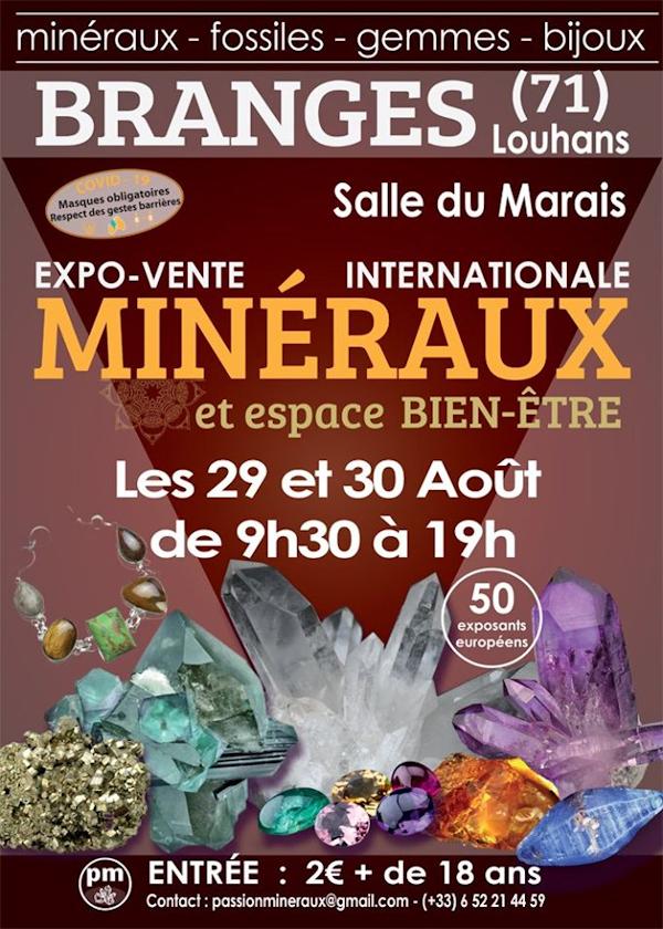 Primeira exposição de venda de minerais da Branges