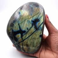 Pedra ornamental de labradorita de forma livre