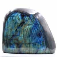 Bloco de labradorita com reflexos azuis