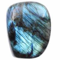 Pedra azul labradorita, bloco decorativo