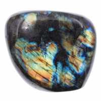 Pedra de labradorita multicolorida para ornamento