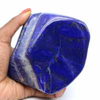 Grande pedra ornamental lapis Lazuli polida