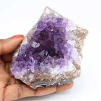 Cristalização natural de ametista
