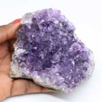 Ametista cristalizada natural