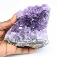 Drusa de pedra de ametista natural