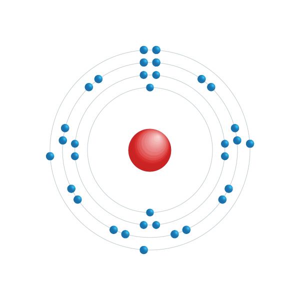 arsênico Diagrama de configuração eletrônica