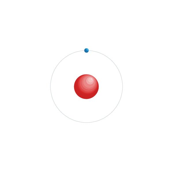 hidrogênio Diagrama de configuração eletrônica