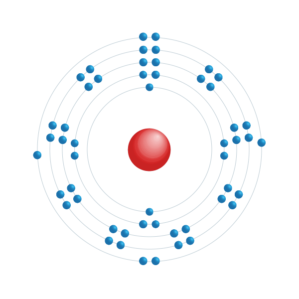 telúrio Diagrama de configuração eletrônica