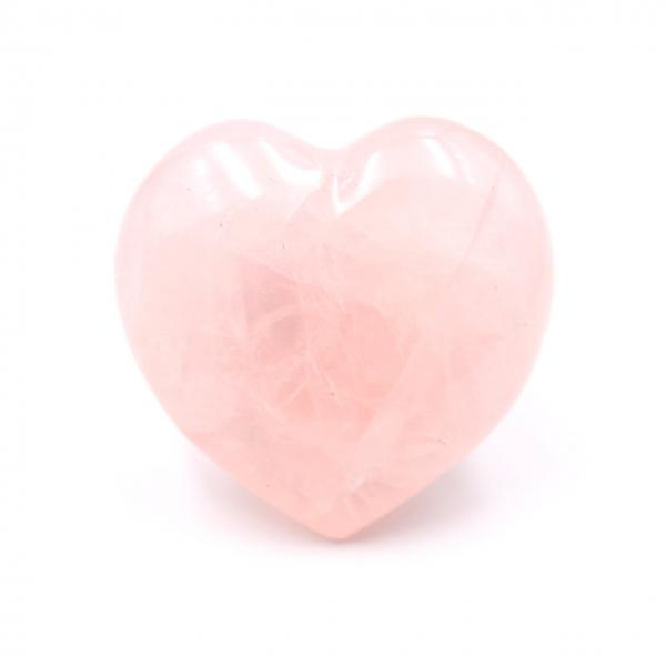 Madagascar coração de quartzo rosa