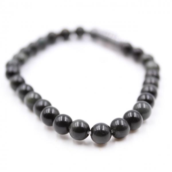 Pulseira obsidiana 6 mm