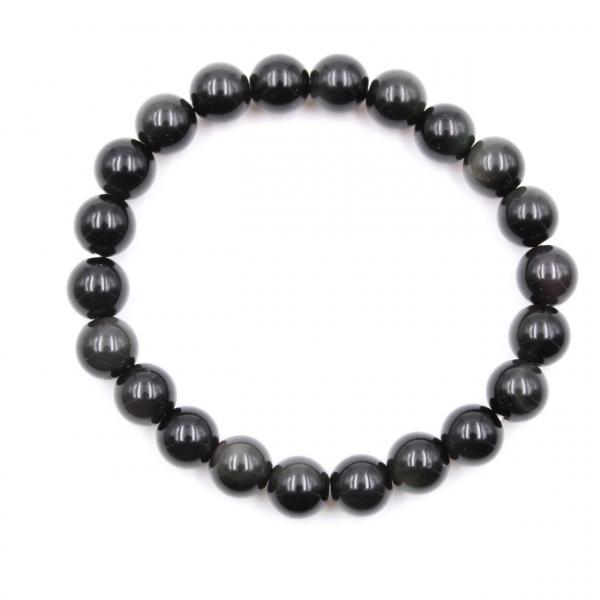 Pulseira obsidiana 8 mm