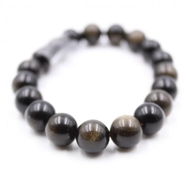 Pulseira obsidiana 10 mm