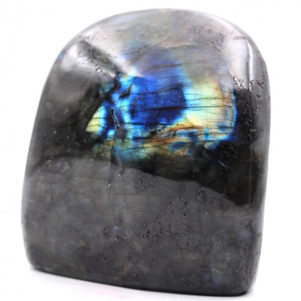 Bloco de pedra labradorita para decoração e coleção