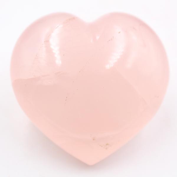 Coração de quartzo rosa