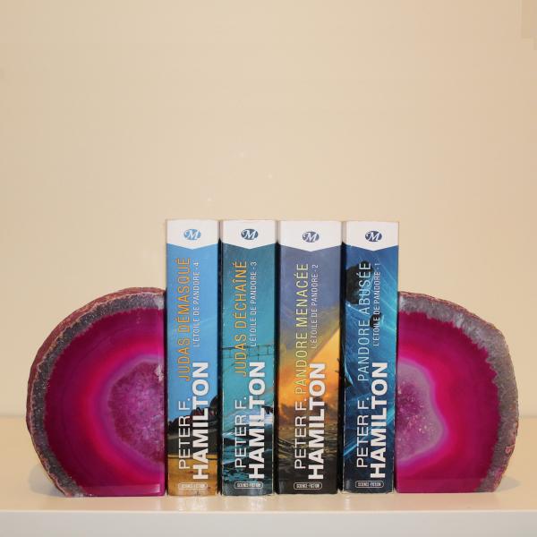Suporte para livros em ágata 2 peças