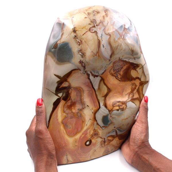 Grande bloco de jaspe impresso de 10 quilos, pedra ornamental