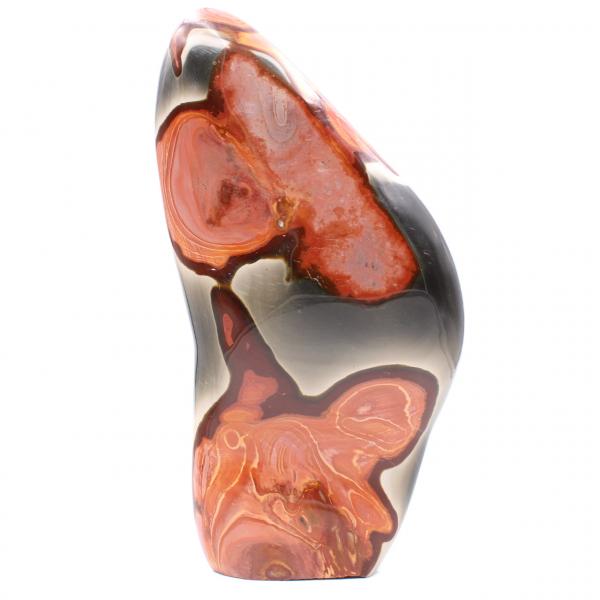 Bloco decorativo em jaspe impresso, laranja marrom rosa