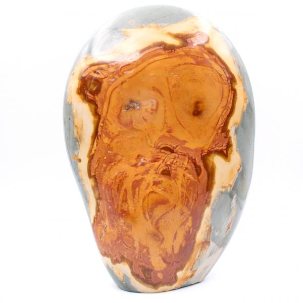 Jaspe com estampa facial, 3 quilos, pedra decorativa polida
