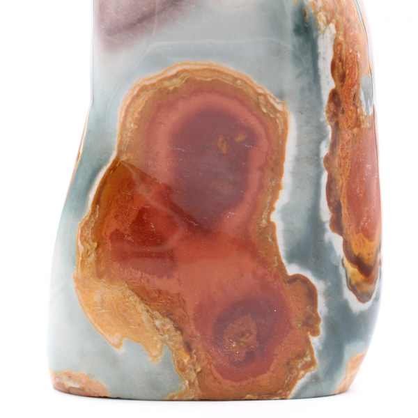 Pedra decorativa em jaspe estampado, 3,5 quilos
