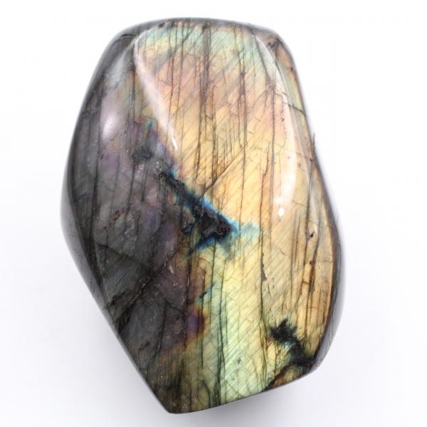 Pedra de ornamento de labradorita amarela roxa