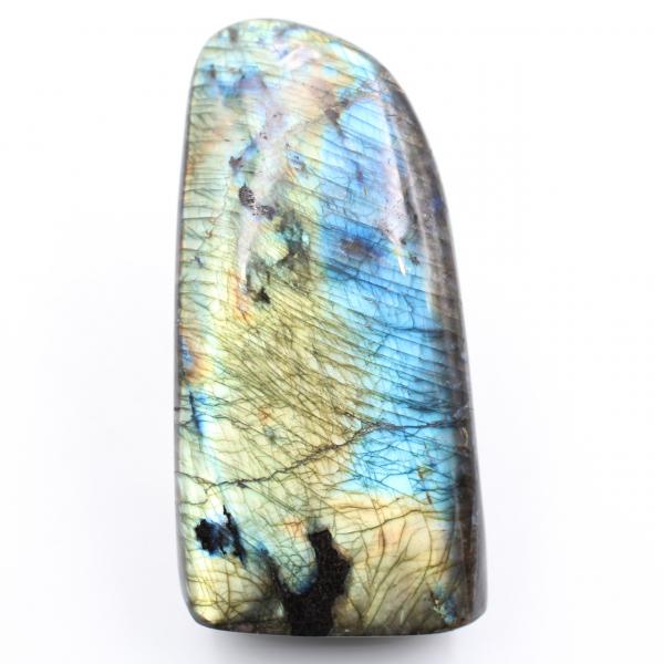 Pedra de Labradorita Azul Amarela de Forma Livre