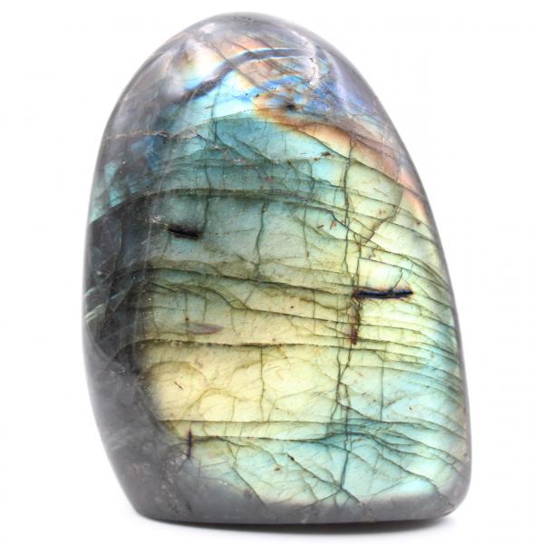 Labradorita verde jovem, pedra decorativa
