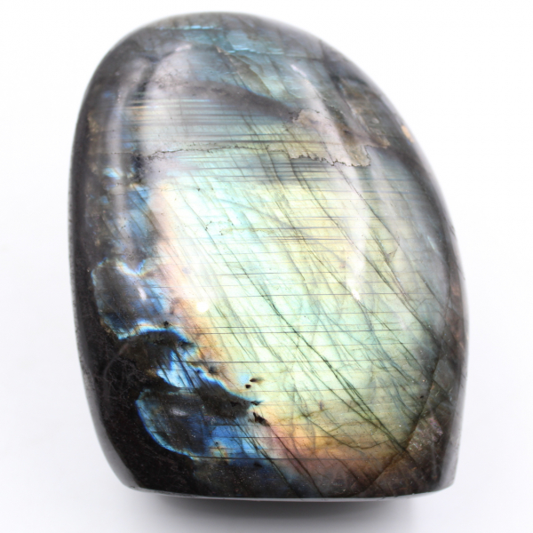 Bloco de pedra de labradorita polida