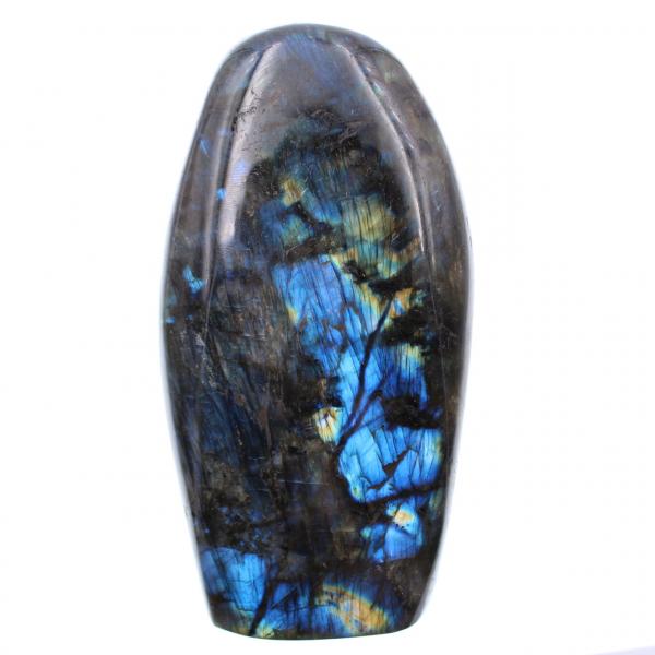 Bloco de decoração de pedra labradorita azul
