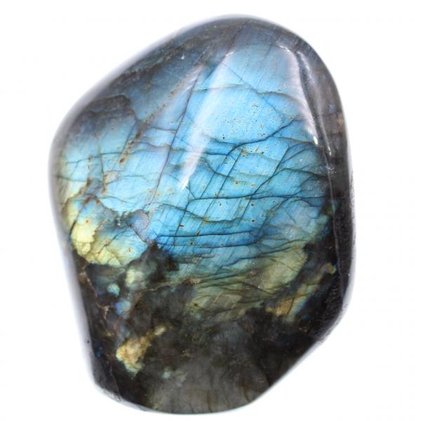 Pedra de decoração de labradorita, reflexos azuis