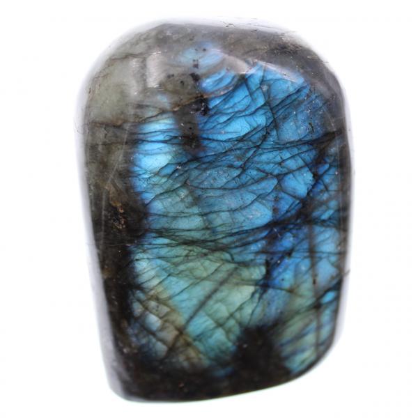 Bloco de pedra de labradorita azul para assentar