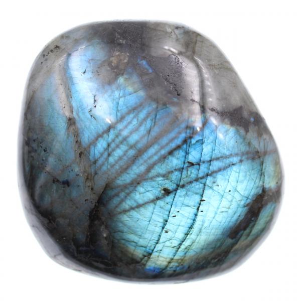 Pedra Labradorita em Bloco Polido Azul