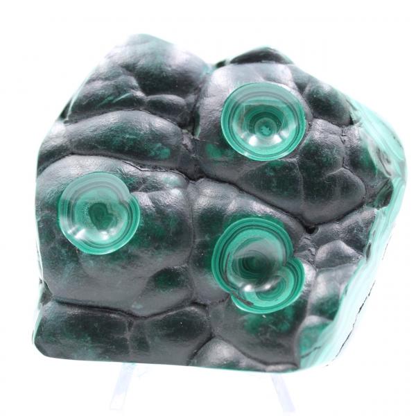Pedra semi-polida malaquita