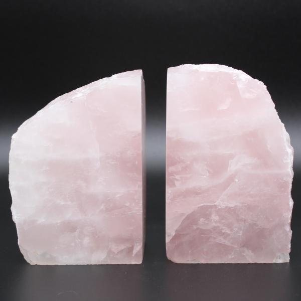Suporte para livros quartzo rosa 2 peças