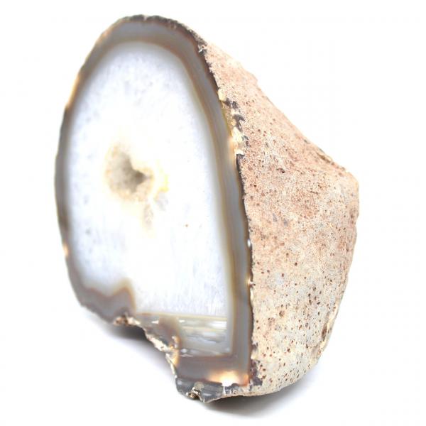 Geodo de ágata meio quartzo