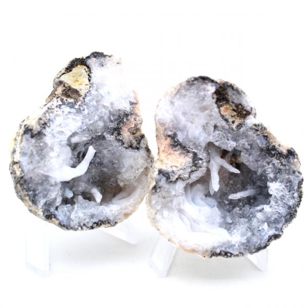 Geodo de ágata de coco inteiro
