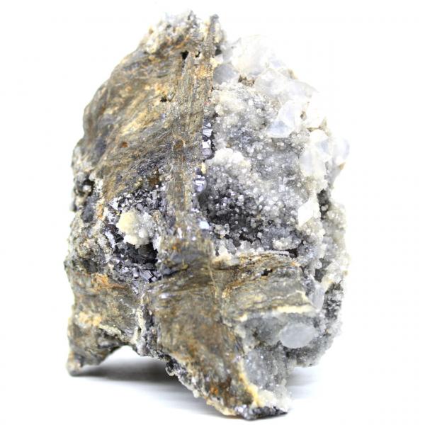 Cerusita, barita e quartzo